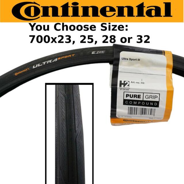 Continental Ultra Sport III Road Bike Tyres 700 X 28c Black for sale online