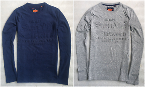 SUPERDRY-Mens-Premium-Goods-Embossed-T-Shirt-Classic-L-Sleeve-Tops-T-Shirt-S-M-L