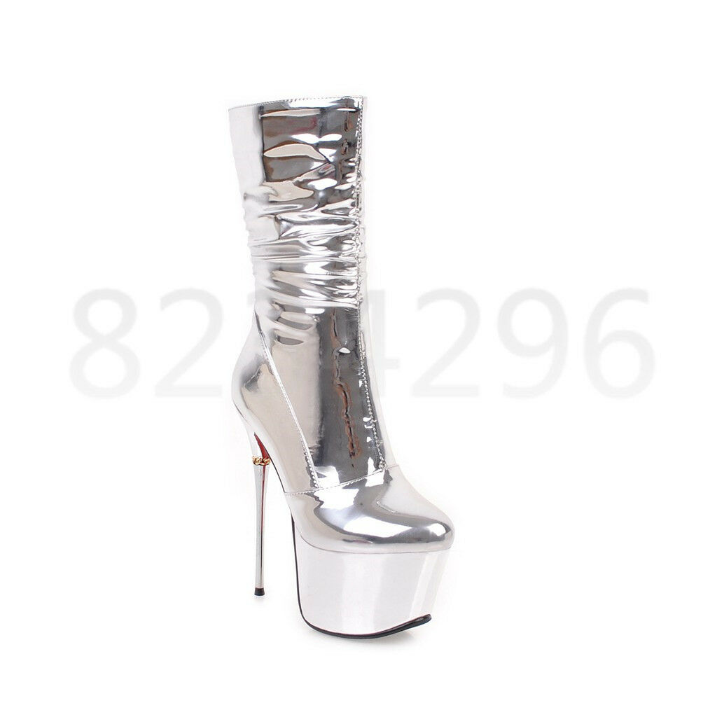 Wadenhohe Stiefel Nachtclub Sexy Damen Damen Damen Stiletto High Heel Platform Party Schuhe d5a5bc