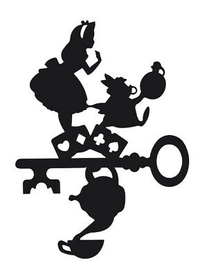 Sticker Alice In Wonderland vinyl car Decal