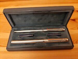 Exkl-Rotring-925-Silber-Schreibset-Fullfederhalter-und-Kugelschreiber-Neu