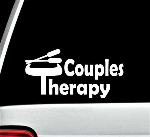Couples Therapy Canoeing Canoe Decal Sticker for Car Window Kayak Raft BG 466