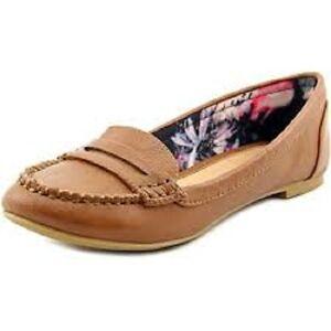 Call-It-Spring-Delcid-Cognac-Bronze-Tan-Loafers-Shoes-Women-039-s-6-5-M-NIB-50
