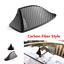 Carbon Fiber Style Car Exterior Roof Shark Fin Shape Adhesive Decorative Antenna