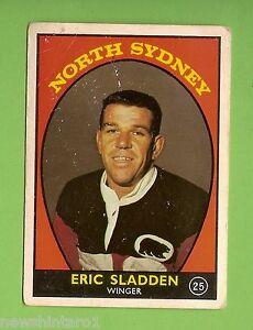 #D3. 1968 /1 RUGBY LEAGUE CARD #25 ERIC SLADDEN, NORTH SYDNEY BEARS