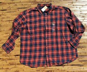 Foundry-Plus-Size-Big-Tall-Mens-Plaid-Flannel-Shirt-3XL-3XLT-4XL