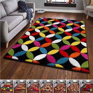 New-Modern-Small-Large-Carved-Quality-Multi-Colour-Floor-Rugs-Runner-Carpet-Mat