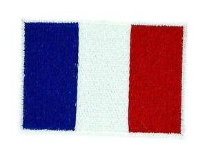Patch-ecusson-brode-Drapeau-FRANCE-Francais-Thermocollant-Backpack-sac-a-dos-7x5