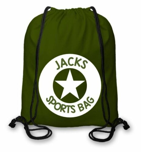 Personalised Cotton PE Kit Bag Sporting Bag Circle Star Different Colour CSB102