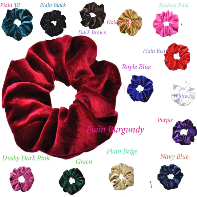 New Girls Womens Soft Sparkle Hair Scrunchies Bobbles Elastic  Top Quality