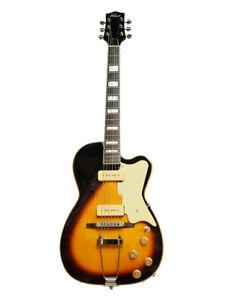 Alden AD-KESS Guitar P90s Hollow Body Violin Sunburst Electric Guitar New