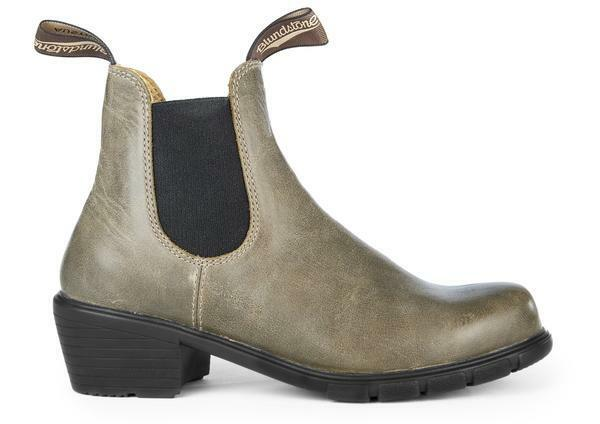 Blundstone 1672 Women's Sizing (Antique Taupe Heeled Boot, Slip Resistant, Lthr)