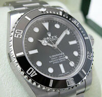 MENS ROLEX SUBMARINER NO DATE 114060 STAINLESS STEEL CERAMIC BLACK 40MM - NEW