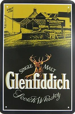 GLENFIDDICH TIN SIGN SCOTLAND SCOTCH WHISKY