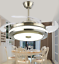 Modern-36-034-Invisible-Ceiling-Fans-with-3-Color-LED-Light-Fan-Chandelier-remote thumbnail 7