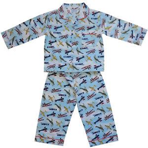 100-Pijama-de-algodon-douglas-Diana-VINTAGE-aviones-Powell-Craft-Edad-1-9