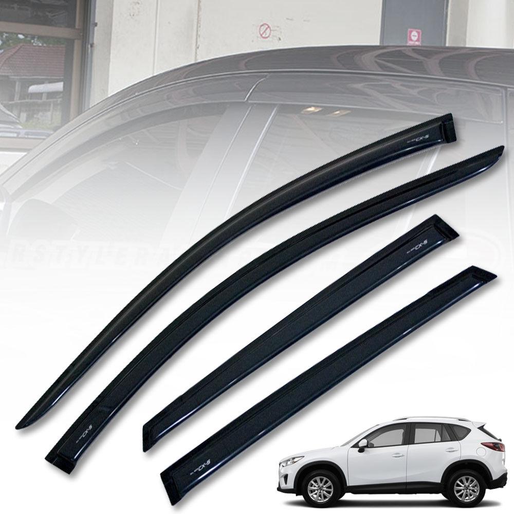 Fit For Mazda CX-5 2018 Rain Visor Glossy Black Weather Guard Wind Shield