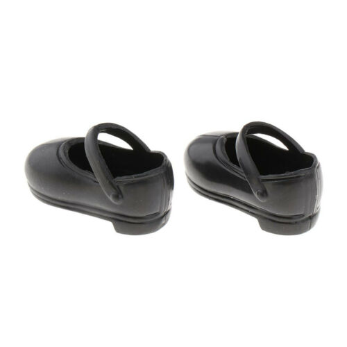 20Pairs Dolls Black Low Shoes for 1//6 Blythe Licca//Momoko//Azone Outfits Accs
