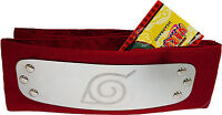 Naruto Rock Lee Leaf Village Red Cosplay Headband W/ Tag Officially Licensed