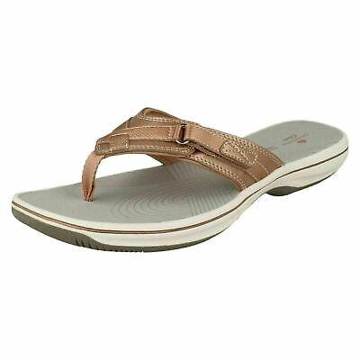 Dunlop DLP014 Ladies ROSE GOLD Beaded Soft Cushioned Flip Flop Toe Post Sandals