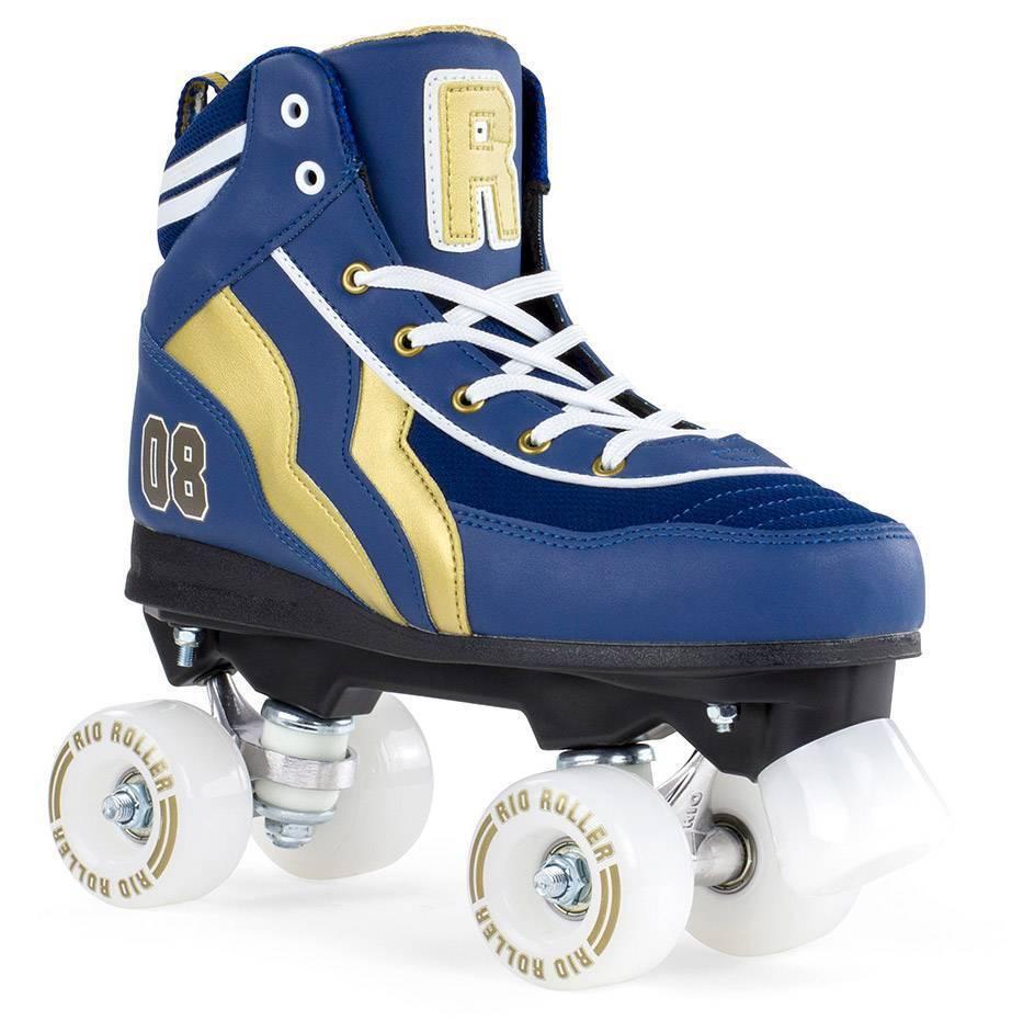 Rio Rio Rio Roller Varsity Quads Rollschuhe Disco Roller blau-Gold NEU 63990 1413f1