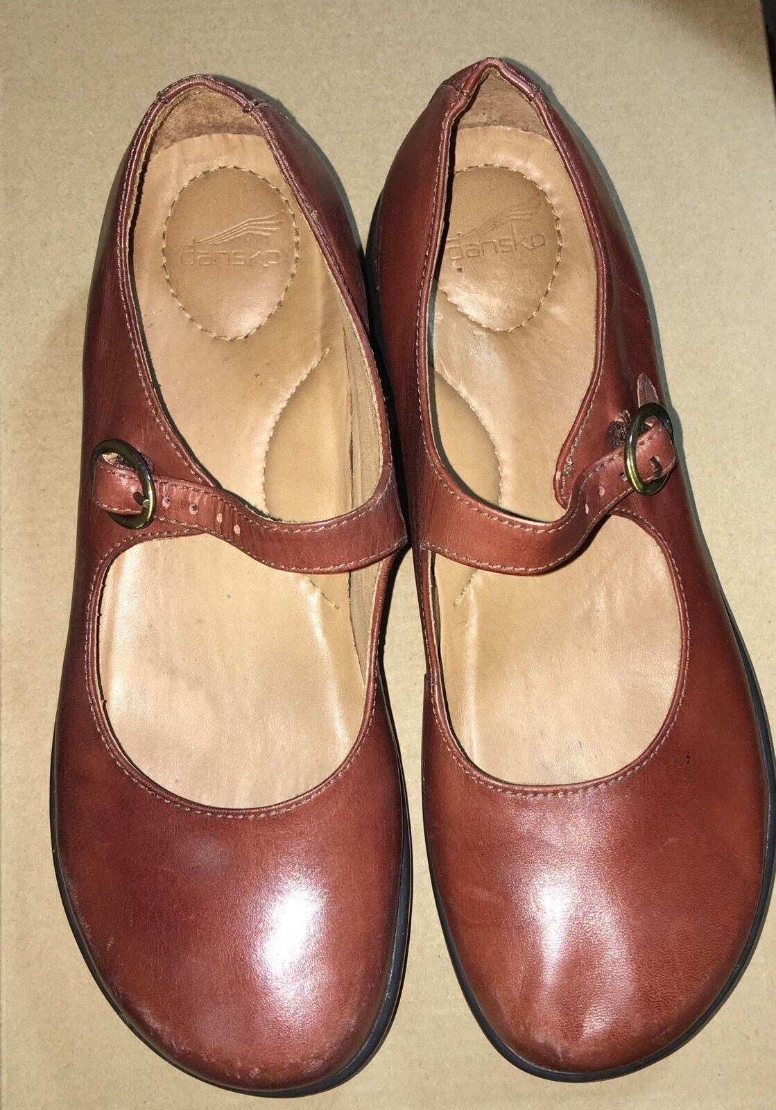 Dansko Mary Janes Dancing shoes Leather Upper Lining Size 37 Brazil Pre-owned