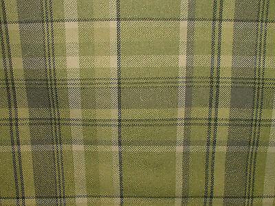 1.5m Elgin Sage Green Wool Effect Tartan Upholstery Curtain Designer Fabric