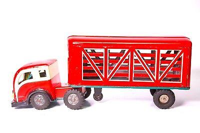 Vieh Traktor Anhänger Lkw Hoher Standard In QualitäT Und Hygiene shioji Vintage Blech Reibung Litho Sss