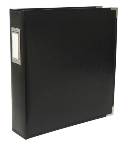 Black We R Memory Keepers Classic Leather 8.5x11 D-Ring Scrapbook Photo Album