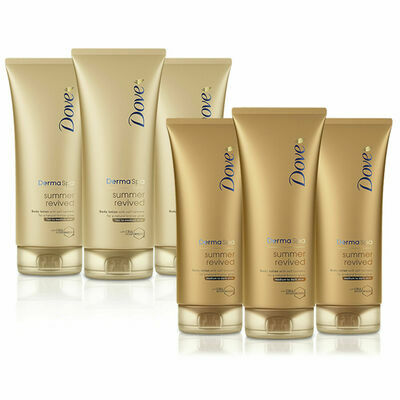 Dove DermaSpa Summer Revived Gradual Self Tan, 200 ml - 3 Pack