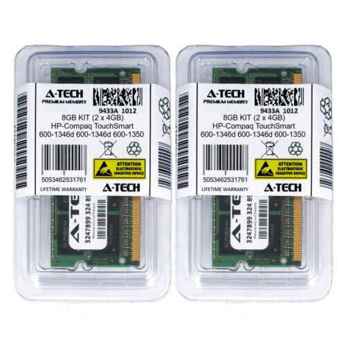 8GB KIT 2 x 4GB HP Compaq TouchSmart 600-1346d 600-1350 PC3-8500 Ram Memory