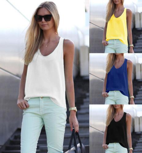 Tank Tops Fashion Vest New Summer Loose Women Shirt Blouses Sleeveless Chiffon