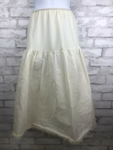 Vintage-Stiff-Ivory-Nylon-Crinoline-Skirt-Petticoat-Pinup-Rockabilly-Small