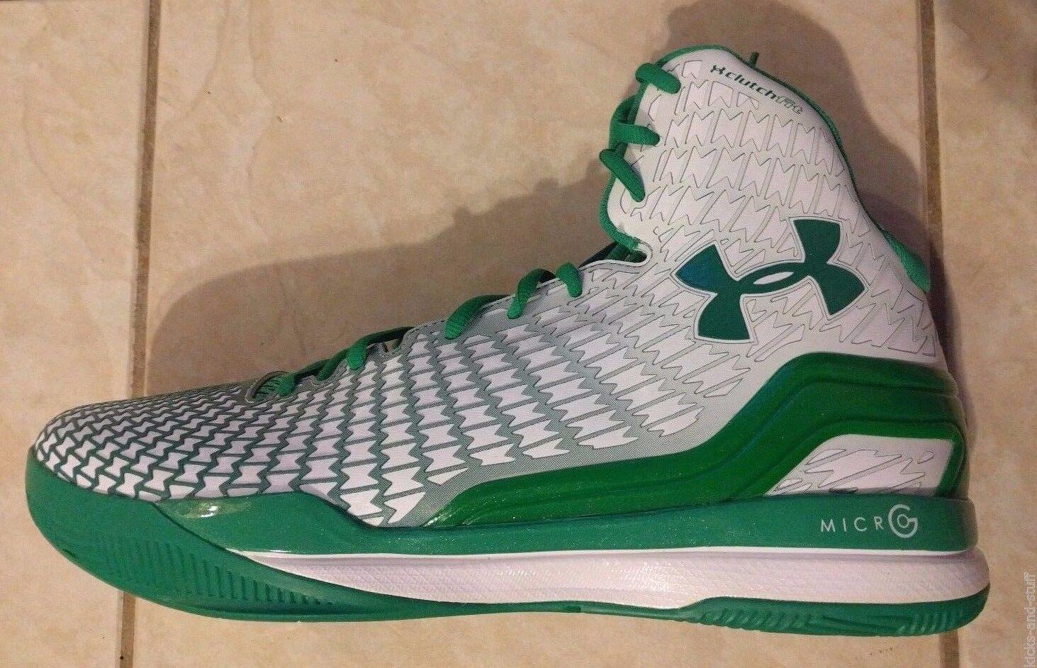 Notre Dame Fighting Irish Basketball Under Armour Clutchfit Drive Green Sz 13.5 Scarpe classiche da uomo