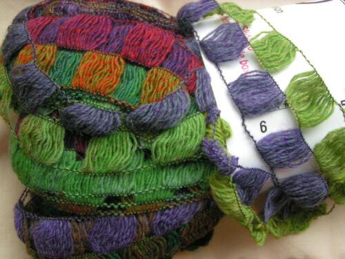 """Trendsetter /""""IMPROV/"""" Ruffle Ribbon Yarn #6 Irish Spring"""