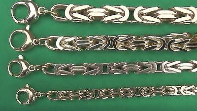 Königskette 7x7mm breit Gold-Double 10//000 gestempelt 45cm bis 80cm