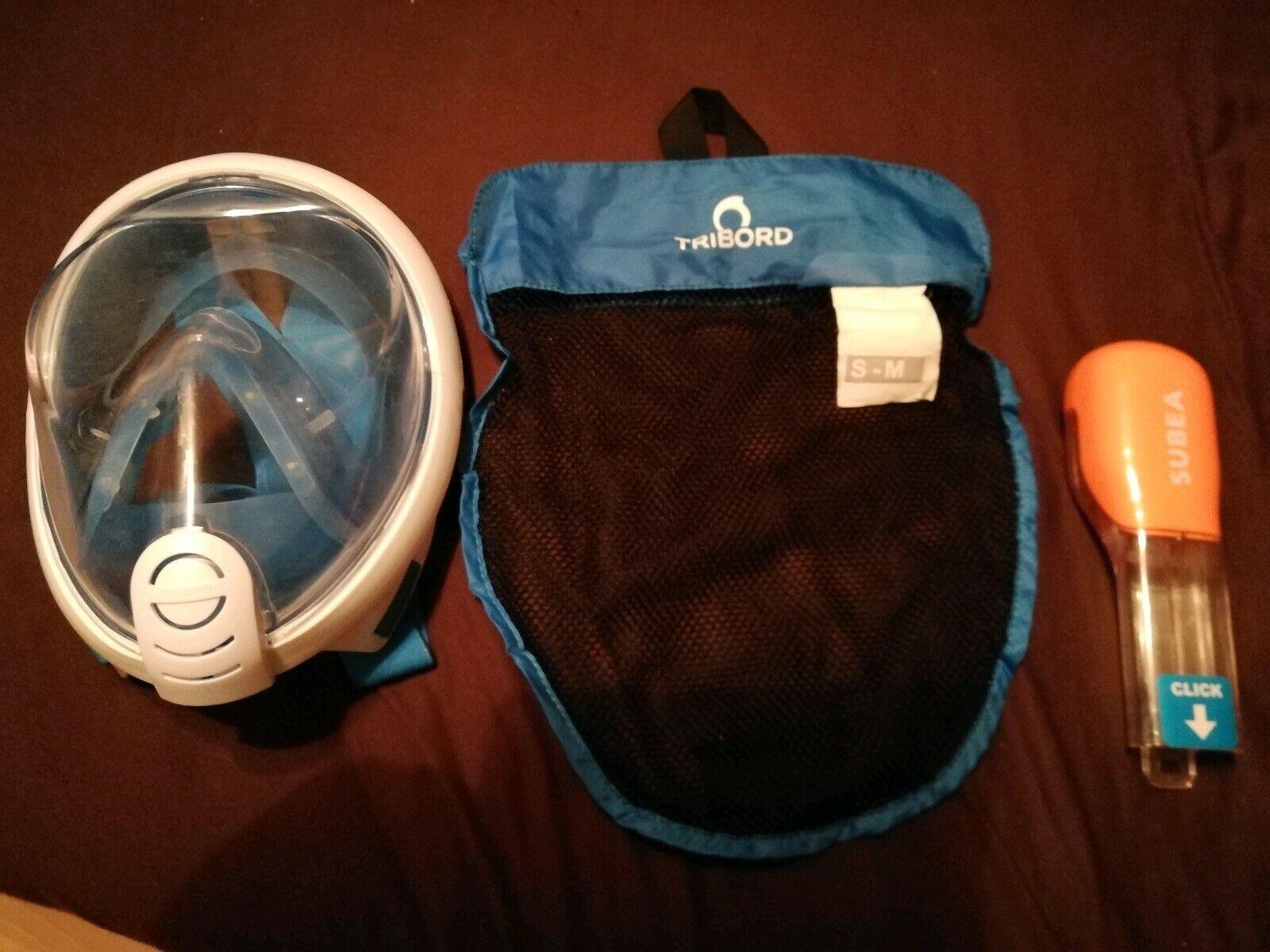 Easybreath Schnorchelmaske Tauchmaske Tauchmaske Tauchmaske S-M Blau gebraucht d73b00