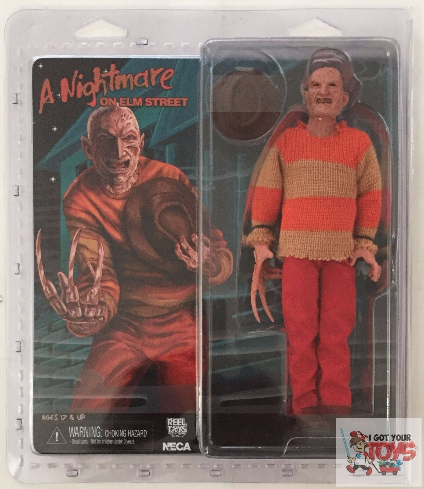 NECA FREDDY 'Video Game' CLOTHED A Nightmare On Elm Street 8  INCH 2015 FIGURE