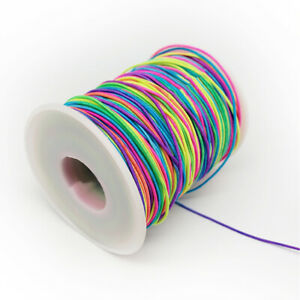 100M-Colorful-Elastic-Rope-Stretch-Nylon-String-DIY-Beaded-Jewelry-Making-Cord