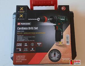 Parkside 12V Cordless Drill Set - PBSA 12 D4 - BRAND NEW