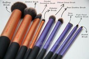 real techniques makeup brush 2 sets  starter set core