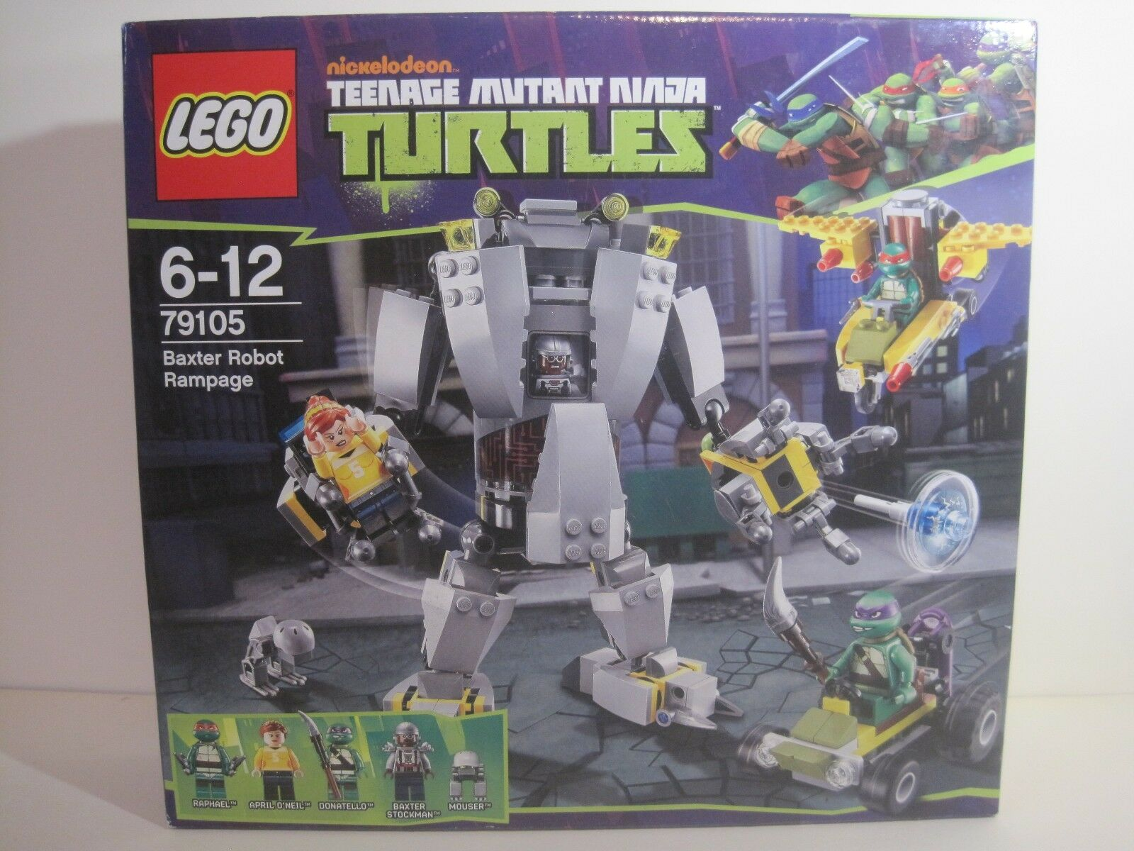 Lego Teenage Mutant Ninja Turtles (79105) BAXTER ROBOT RAMPAGE (New & Sealed)