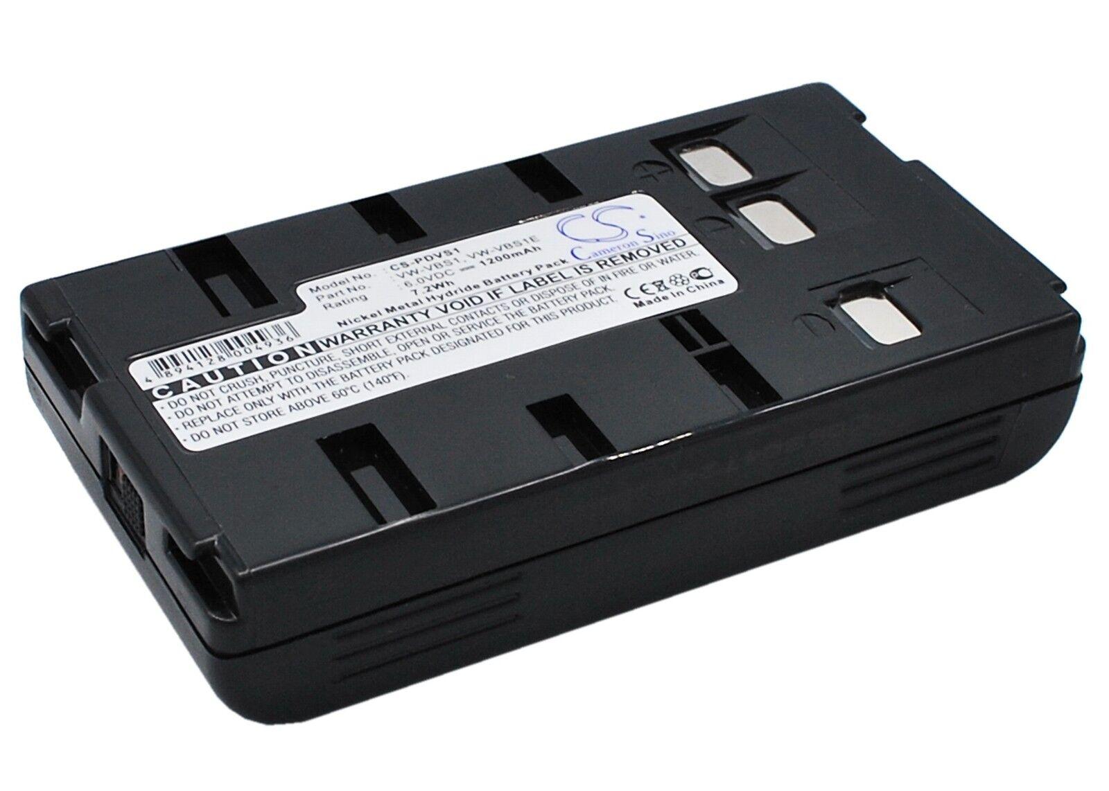 Ni-CD Battery for Panasonic NV-S500EN PV-A286 PV-IQ403 NV-S800 PV-L557 PV-S63