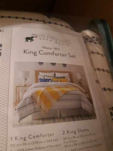 One Kings Lane Open House™ Water Mill 3-Piece KING Comforter Set in White