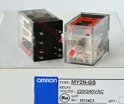 OMRON MY2N-GS 24VDC INTERMEDIATE RELAY SWITCH PLC MODULE NEW