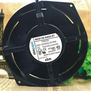 EBM PAPST W2S130-AA03-87 Cooling Fan AC 230V 43W 172mm x 150mm x 55mm WIRE