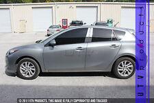 GTG 2010 - 2013 Mazda 3 Hatchback 8PC Chrome Stainless Steel Pillars Posts