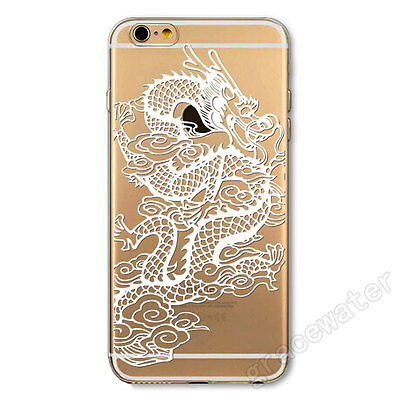 "For Apple iPhone 6 4.7"" 6 Plus Case Cover Soft Silica Gel Skin Transparent Print"