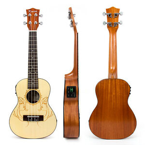 Kmise-Laminated-Spruce-23-inch-Electric-Acoustic-Concert-Ukulele-Hawaii-Guitar