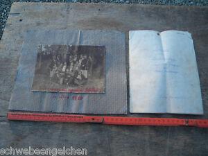 """1919 EGGERDING LAMBRECHTEN Foto + Manuskript Theaterstück """"GEÄCHTET"""" Brunninger"""